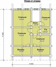 Проект Юхоть - План 2 этажа